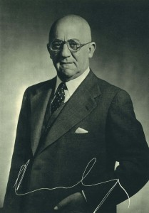 Epifanio Ridruejo Botija (1899-1986), que ejerció como consejero delegado durante la presidencia de Garnica Echevarría